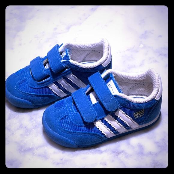 Adidas Infant Dragon Blue & White Sneakers